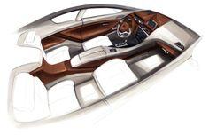 BMW 6 Series Coupe Concept Design Sketch.