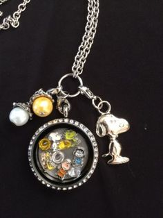 Snoopy Charlie Brown Peanuts Inspired Memory Locket Necklace Peanuts Lucy