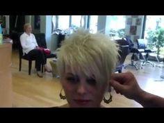 Blonde haircolor short cut by Stephanie - YouTube