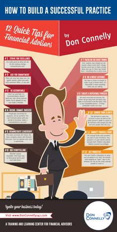 12 Practice Building Tips For Financial Advisors #infographic #Finance #FinancialAdvisors