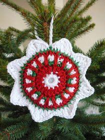 Free Crochet Christmas Ornament Pattern ❥Teresa Restegui http://www.pinterest.com/teretegui/ ❥