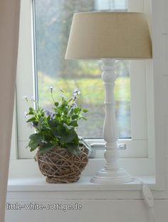 Fensterbank Stehlampe Lampe ANNA beige weiß