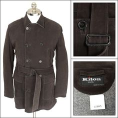 KITON Brown Leather Cashmere Vicuna DB Over Coat  |  Have at it! http://www.frieschskys.com/outerwear  |  #frieschskys #mensfashion #fashion #mensstyle #style #moda #menswear #dapper #stylish #MadeInItaly #Italy #couture #highfashion #designer #shopping