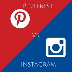 Vamos analisar algumas diferenças entre as duas redes. Pinterest x Instagram