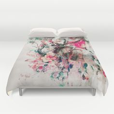 Watercolor elephant and flowers duvet cover                                                                                                                                                                                 More