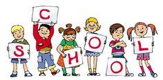 School image children drawing | School letters kinderen tekening | #illustratie #school #illustration