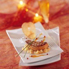 Foie Gras de Canard Poêlé aux pommes, jus d'agrumes au porto Blanc Chef Emile Jung