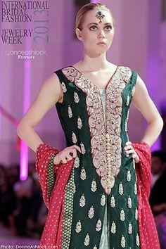 #bride #weddingdresses2014 #bridaldresses2014 #bridaldress Sana Abbas Collection at International Bridal Fashion Week 2013