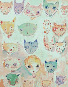 The Cat Lady 8X10 Print by DarcysLilustrations on Etsy, $15.00