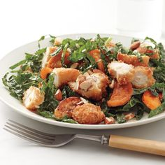 This is a delightful, filling salad that uses already handy frozen chicken tenders.