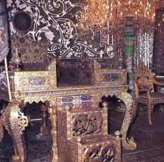 The famous Peacock Throne in the Golestan Palace, Tehran