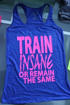 Burnout Workout Tank Train Insane by GraphicsUnlimitedLLC, $23.00