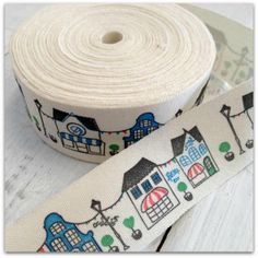 Streets of Paris Cotton Ribbon