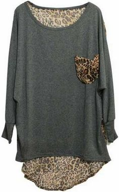 Leopard Print Detail Top = I want to make this!!