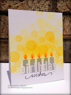 Dee's Art Utopia: STAMPlorations Birthday Blog Hop!!  LOVE the bokeh glow of the candles.