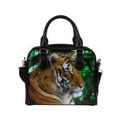 Tiger digital painting Classic Shoulder Handbag by Tracey Lee Art Designs Shoulder Handbags, Art Designs, Tote Bags, Digital, Classic, Unique Jewelry, Artwork, Model, Painting