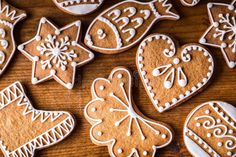 Photo about Christmas sweet cakes. Christmas homemade gingerbread cookies on wooden table. Image of cinnamon, cookies, cakes - 81861148 Baking Pans, Baking Soda, Cookie Images, Unbleached Flour, Stock Image, Sweet Cakes, Wooden Tables, Christmas Photos, Gingerbread Cookies