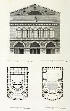 Elevation and plan of the Theatre Feydeau, Paris