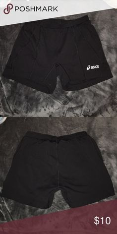 Asics spandex shorts Stretchy and super cute! They are a little big on me cause I wear a small Asics Shorts