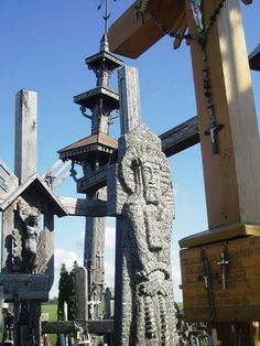 Lithuania was captured by Germany in World War Two, then after the war once again came under the control of Russia - by 1940 there were 400 large symbolic crosses on the hill surrounded by thousands of smaller ones. Three times, during 1961, 1973 and 1975, the Soviet government ordered the hill to be leveled by bulldozers. The crosses were burned or turned into scrap metal, and the area was covered with waste and sewage. Each time the local Lithuanians came back at night, cleared the site.