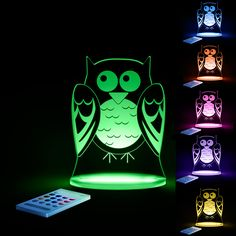 "So ""whoo""s sleepy? Make bedtime a joy with these lovely LED night lights!"