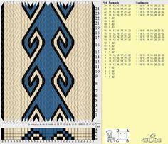 Bunad, Smykker, vev & rosemaling: Brikkevev-mønster med vaiasjoner.