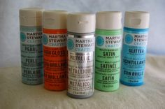 Martha Stewart Paints by Plaid. Great multi-use paints- even on glass! {Review on CraftTestDummies.com}