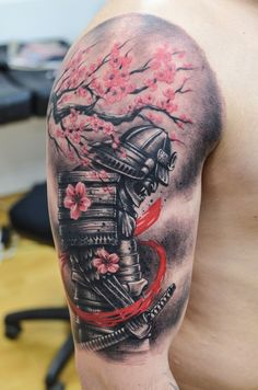 Get to witness the most amazing samurai tattoos design 2019 here. We have the most splendid art styles that will tell you all the samurai tattoo meaning as well as the samurai tattoo back,arm, and even your leg. Japanese Warrior Tattoo, Japanese Back Tattoo, Japanese Tattoo Designs, Japanese Sleeve Tattoos, Japan Tattoo Design, Samurai Tattoo Sleeve, Samurai Warrior Tattoo, Warrior Tattoos, Tattoos Arm Mann