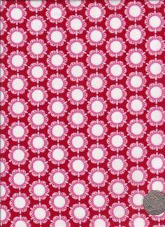 "Circle Flower Red  ""Flower Child"" designed by Rosalie Dekker. (Quinlan)"