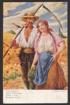 Schlegel-Artist-Farmer-Scythe-Summer-Postcard
