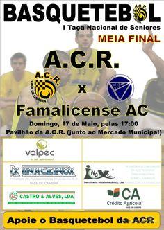 Basquetebol: ACR Vale de Cambra vs Famalicense AC > 17 Mai 2015, 17h @ Pavilhão da ACR, Vale de Cambra  _Taça Nacional de Seniores   Meia Final_