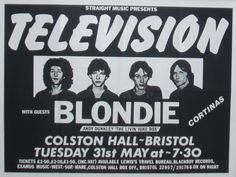 "Tuesday 24th May 1977 From The ""City Hall"", Sheffield Featuring The UK Debut Tour of Both Television & Blondie"