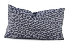 Add a spot of navy & off white to your decor with this classic woven diamond design lumbar pillow cover. The back of this cover is a solid navy.  This sale is for (1) pillow cover and does not include the pillow insert. If you would like to purchase the pillow insert from my Etsy Store your pillow (s) will be shipped already stuffed for you- ready to be used directly from the package. This cover is shown photographed stuffed with a 12x22 inch pillow insert…