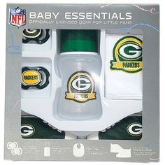 NFL Green Bay Packers Baby Essentials 5 Piece Newborn Infant Baby Gift Set