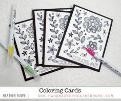 Handmade by Heather Ruwe: Coloring Cards