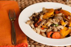 Black Bean and Ginger Pasta Fry by healthfulpursuit: 15 minute meal with over 12 grams of fiber and 17 grams of protein. #Pasta #Black_Bean #healthfulpursuit