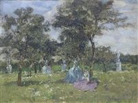 ladies resting in the shade by emma ciardi