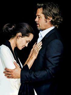 Angelina jolie and brad pitt by peter lindbergh