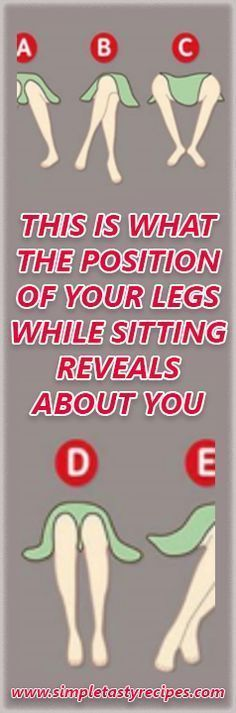 Body language can tell a lot about people. Did you know that the position of your legs while sitting reveals your intentions and deepest secrets, according to psychologists? The next time you're around people, look at their sitting position and learn something more about their character. -Position A This person thinks that neglecting their problems …