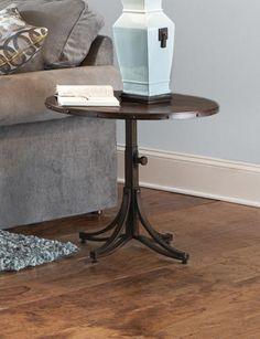 mercantile rnd cocktail table - art van furniture   great room
