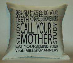 College Student Reminders 18X18 Decorative by PillowTalkandMoreSTL, $29.99