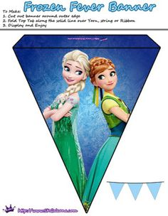 Anna and Elsa Banner | Frozen Fever Free Printables and Crafts | SKGaleana