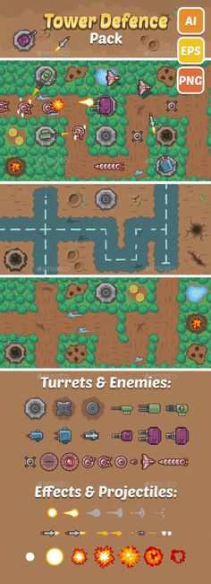 Tower Defence Pack - Tilesets Game Assets