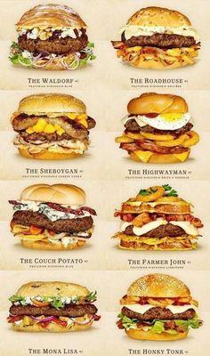 Nur die leckersten – Cheeseburger Ideen – Food cart – – Food And Drink Burger Menu, Gourmet Burgers, Burger Ideas, Burger Bar, Cheese Burger, Gourmet Sandwiches, Steak Sandwiches, Beef Burgers, Beef Recipes