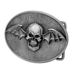 Winged Skull Bat Gothic Oval Belt Buckle Silver!  6.49 http   skullcart. 3b34409f40a