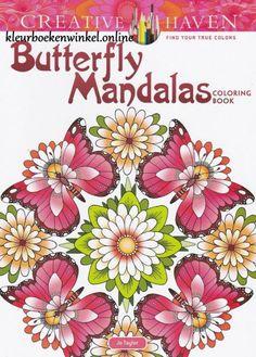 kleurboek butterfly mandalas is een kleurboek met het onderwerp vlinders en bloemen. Een serie eigentijdse kleurboeken met gedetailleerde ontwerpen