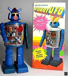 Robots - ROBOT UFO - DURHAM INDUSTRIES - HONG KONG - ALPHADROME ROBOT AND SPACE TOY DATABASE