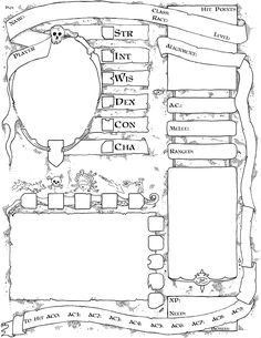 A new Labyrinth Lord character sheet Rpg Character Sheet, Character Sheet Template, Make A Character, Character Creation, Dungeons And Dragons Characters, D&d Dungeons And Dragons, D D Characters, Fantasy Characters, Rpg Pathfinder