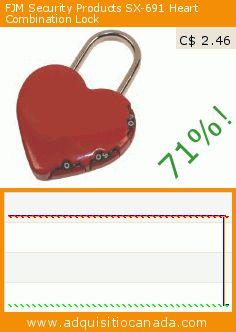 FJM Security Products SX-691 Heart Combination Lock (Automotive). Drop 71%! Current price C$ 2.46, the previous price was C$ 8.40. https://www.adquisitiocanada.com/fjm-security/products-sx-691-heart
