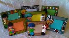 Colección Niños. Portaretratos elaborados con Foamy.